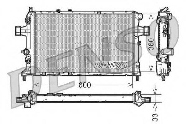 Радиатор, охлаждение двигателя DENSO DRM20017