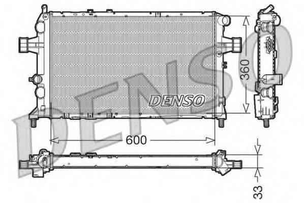 Радиатор, охлаждение двигателя DENSO DRM20018