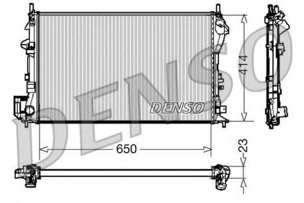 Радиатор, охлаждение двигателя DENSO DRM20028