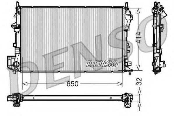 Радиатор, охлаждение двигателя DENSO DRM20029