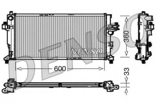 Радиатор, охлаждение двигателя DENSO DRM20039