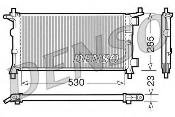 Радиатор, охлаждение двигателя DENSO DRM20041