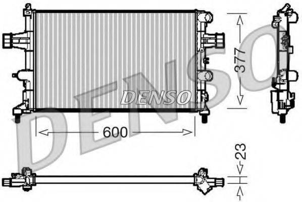 Радиатор, охлаждение двигателя DENSO DRM20081