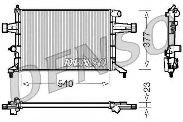 Радиатор, охлаждение двигателя DENSO DRM20082