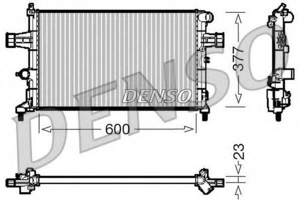 Радиатор, охлаждение двигателя DENSO DRM20083