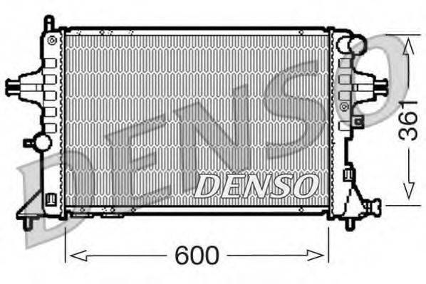 Радиатор, охлаждение двигателя DENSO DRM20084