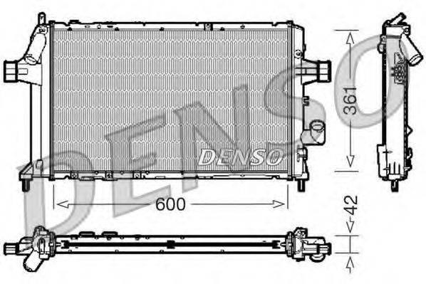 Радиатор, охлаждение двигателя DENSO DRM20085