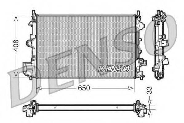 Радиатор, охлаждение двигателя DENSO DRM20088