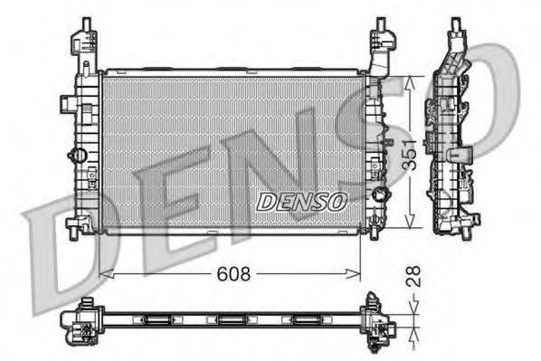 Радиатор, охлаждение двигателя DENSO DRM20091