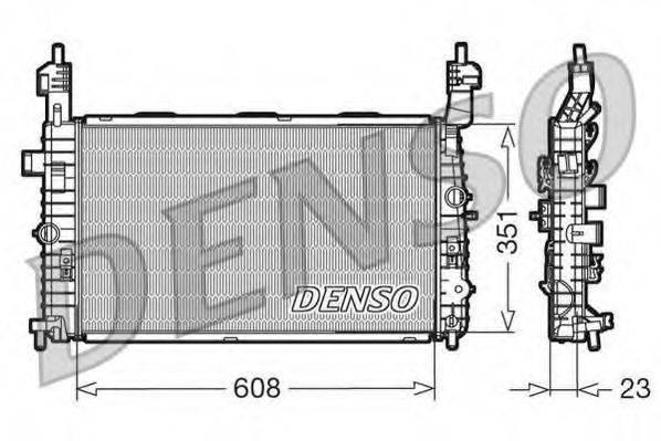Радиатор, охлаждение двигателя DENSO DRM20093