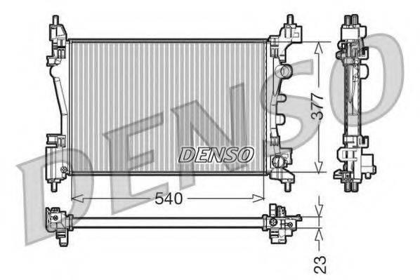 Радиатор, охлаждение двигателя DENSO DRM20095