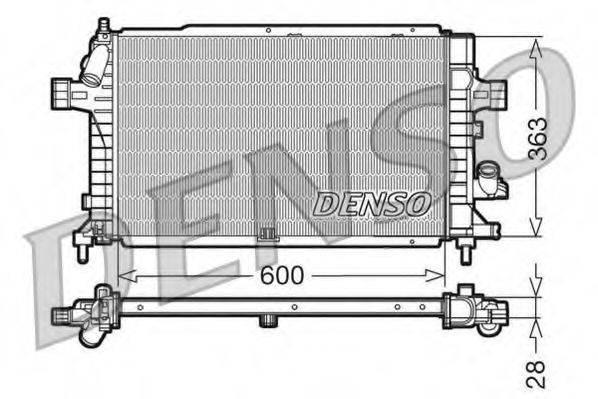 Радиатор, охлаждение двигателя DENSO DRM20102