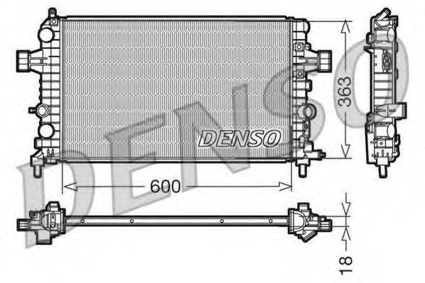 Радиатор, охлаждение двигателя DENSO DRM20103