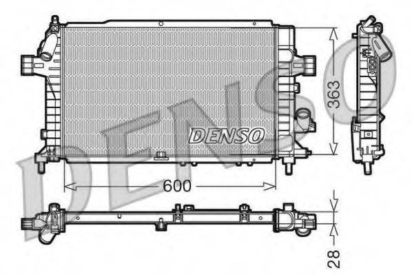 Радиатор, охлаждение двигателя DENSO DRM20104