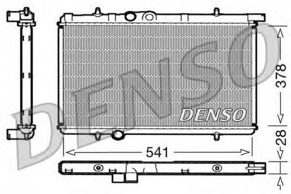 Радиатор, охлаждение двигателя DENSO DRM21021