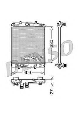 Радиатор, охлаждение двигателя DENSO DRM21024
