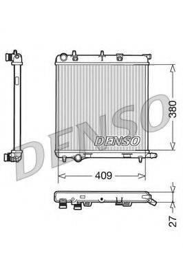 Радиатор, охлаждение двигателя DENSO DRM21026