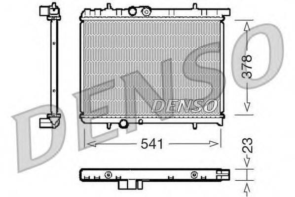Радиатор, охлаждение двигателя DENSO DRM21031