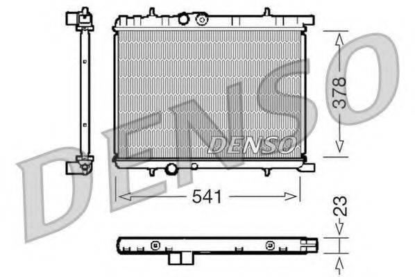 Радиатор, охлаждение двигателя DENSO DRM21033