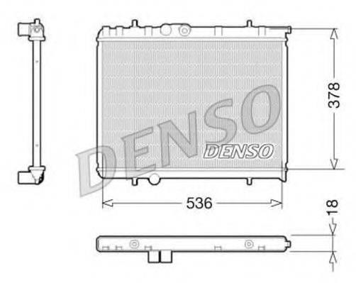 Радиатор, охлаждение двигателя DENSO DRM21034