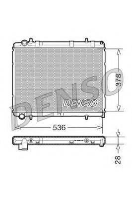 Радиатор, охлаждение двигателя DENSO DRM21035