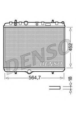 Радиатор, охлаждение двигателя DENSO DRM21055