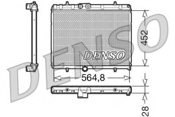 Радиатор, охлаждение двигателя DENSO DRM21057