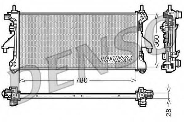 Радиатор, охлаждение двигателя DENSO DRM21101