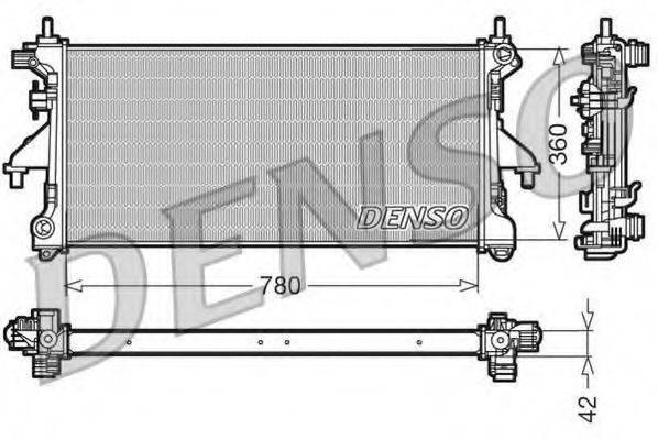 Радиатор, охлаждение двигателя DENSO DRM21102