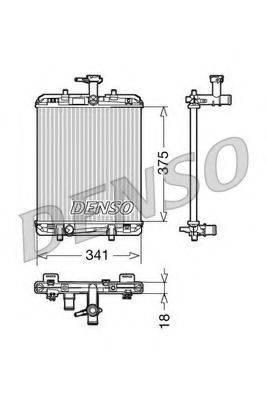 Радиатор, охлаждение двигателя DENSO DRM21600