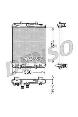 Радиатор, охлаждение двигателя DENSO DRM21603