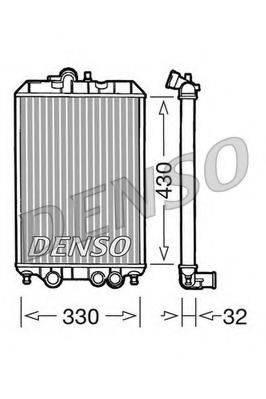Радиатор, охлаждение двигателя DENSO DRM22002