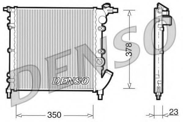 Радиатор, охлаждение двигателя DENSO DRM23003