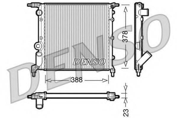 Радиатор, охлаждение двигателя DENSO DRM23006