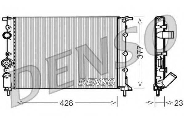 Радиатор, охлаждение двигателя DENSO DRM23008
