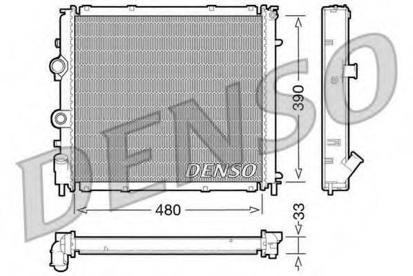 Радиатор, охлаждение двигателя DENSO DRM23011