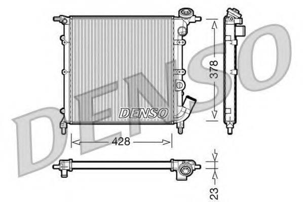 Радиатор, охлаждение двигателя DENSO DRM23012