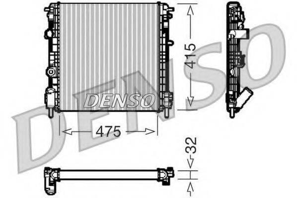 Радиатор, охлаждение двигателя DENSO DRM23014