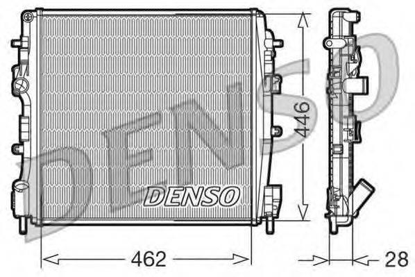 Радиатор, охлаждение двигателя DENSO DRM23018