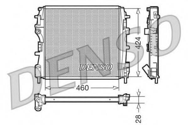 Радиатор, охлаждение двигателя DENSO DRM23019