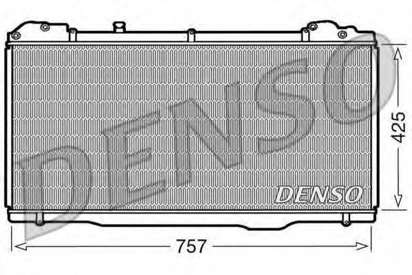 Радиатор, охлаждение двигателя DENSO DRM23023