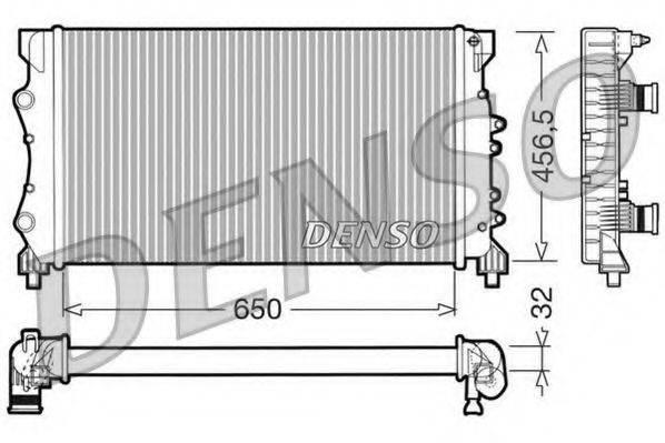 Радиатор, охлаждение двигателя DENSO DRM23024