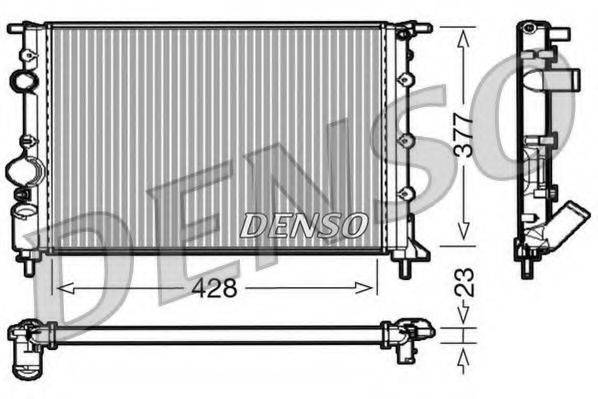 Радиатор, охлаждение двигателя DENSO DRM23032