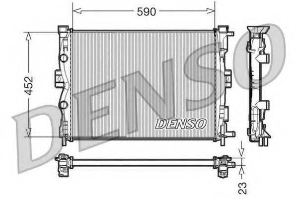 Радиатор, охлаждение двигателя DENSO DRM23055
