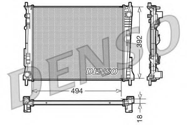 Радиатор, охлаждение двигателя DENSO DRM23079