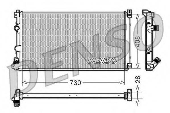 Радиатор, охлаждение двигателя DENSO DRM23092