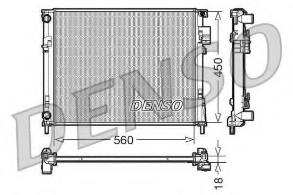 Радиатор, охлаждение двигателя DENSO DRM23095