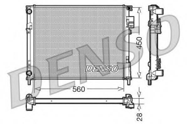 Радиатор, охлаждение двигателя DENSO DRM23096