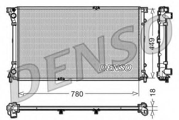 Радиатор, охлаждение двигателя DENSO DRM23097