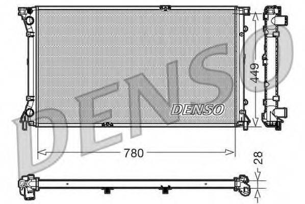 Радиатор, охлаждение двигателя DENSO DRM23098